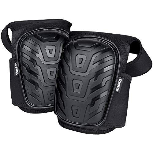 Vastar Professional Knee Pads - Kneepads Padded Heavy Duty Foam with Gel Cushion and Adjustable Neoprene Straps Knee Pads Best for Work Indoor and Outdoor, Construction, Gardening, Flooring And More