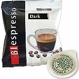 Biespresso 150 cápsulas de café filtro papel ESE 44 mm sabor oscuro