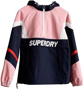Superdry Colour Block Overhead Blouson Femme