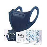 Airllo Adult Face Masks, Washable Reusable Disposable Breathable, Thin, Lightweight, Individually Wrapped Safety Respirators for Dust Protection 5-Layer, Navy 20PCS