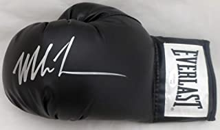 Mike Tyson Autographed Black Everlast Boxing Glove LH Signed In Silver JSA Stock #140639