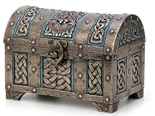 6' Celtic Knot Treasure Chest Trinket Box Home Decor