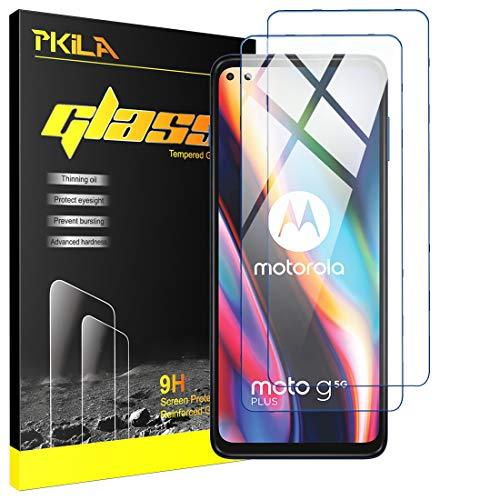 Protector de Pantalla Motorola Moto G 5G Plus Cristal Templado [9H Dureza][Alta Definición][Fácil de Instalar] para Motorola Moto G 5G Plus
