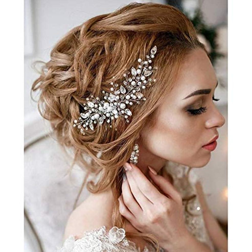 命題赤道開始Aukmla Bride Wedding Hair Combs Bridal Hair Accessories Decorative for Brides and Bridesmaids [並行輸入品]