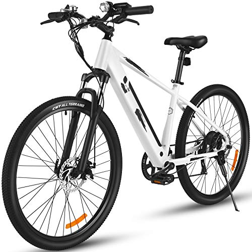 """26"""" Electric City Bike, Removable 12.5Ah Lithium-ion Battery Pack Integrated with Frame, 35 Miles Range and Dual Disc Brakes Alloy Electric Bicycle"""