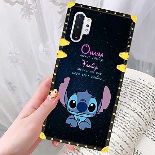 DISNEY COLLECTION Samsung Galaxy Note 10 Plus 5G Case for Women Girls Stitch Pattern Design Glitter Luxury Slim Shockproof Bumper Protective Cover for Galaxy Note 10+ 6.8 inch