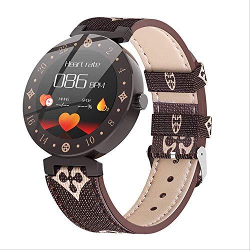YUJY Smartwatch Smartwatch Ip67 Wasserdichter Herzfrequenzmesser Fitness Step Watch Anruferinnerung Bluetooth Sportuhr New Ios Android Brown