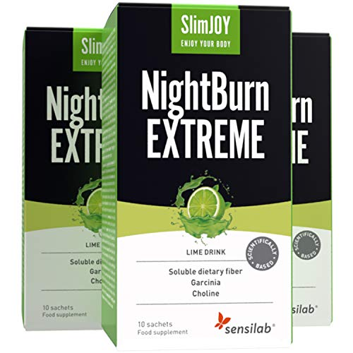 NightBurn EXTREME mit Garcinia Cambogia - 3x10 Beutel, ausreichend für 30 Tage - Der einzige 4-in-1-Fatburner, der nachtsüber Abnehmergebnisse liefert