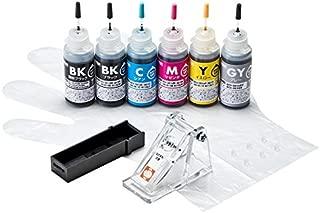 サンワサプライ アウトレット 詰め替えインク BCI-380PGBK・381BK・C・M・Y・GY用 INK-C381S30S6 箱にキズ、汚れのあるアウトレット品です。