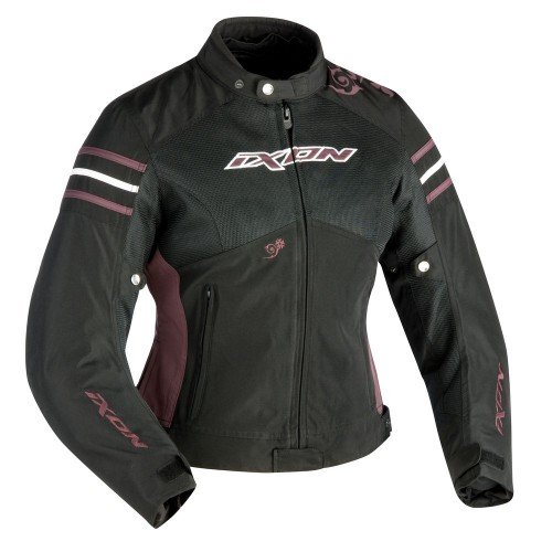 Ixon Electra - Chaqueta para Moto (Talla S), Color Negro y Morado