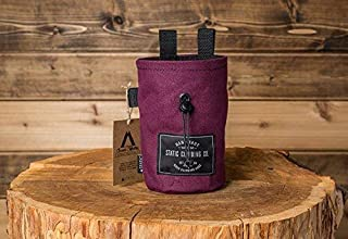STATIC Canvas Chalk Bag | Burgundy (Made in the USA)