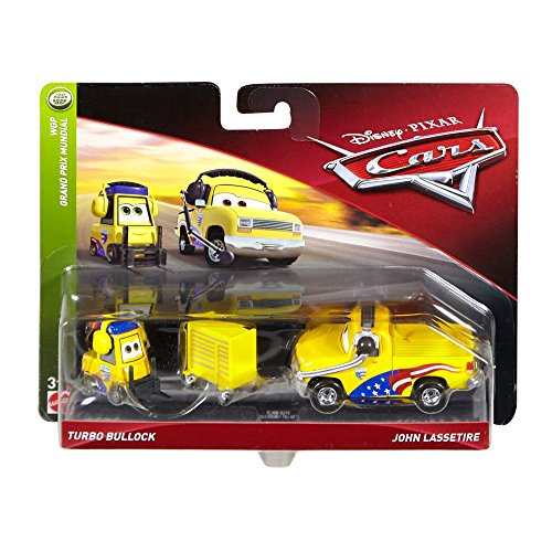 Disney Cars Character Car Turbo Bullock & John Lassetire Toy Vehicle (2 Pack)