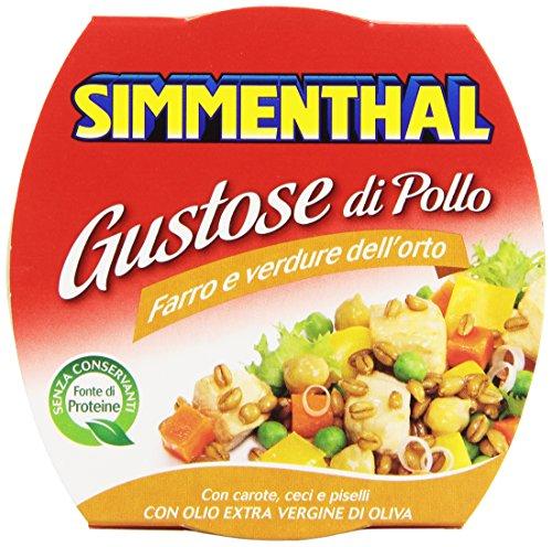 Simmenthal - Piatto Pronto Di Vegetali E Pollo, Con Olio Extra Vergine Di Oliva - 160 G