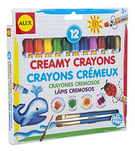 ALEX Toys Artist Studio 12 Creamy Crayons with Brushes