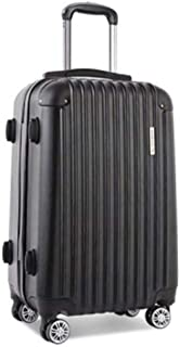 Wanderlite 28'' Hard Suitcase Large Roller Luggage Case, Black