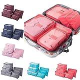 6 Stücke tragbare Gepäckverpackungswürfel Wassermelonenrot