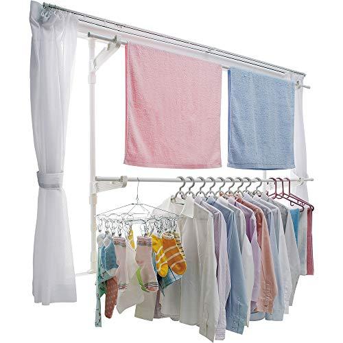 アイリスオーヤマ 洗濯物干し 室内物干し 窓枠物干し 約3人用 幅110~190�p MW-190NR