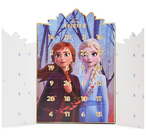 Disney Frozen Calendario Adviento, Calendario de Adviento de Joyas, Incluye 24 Sorpresas con Anna y Elsa Colgantes Pulsera Collar, Advent Calendar para Niñas