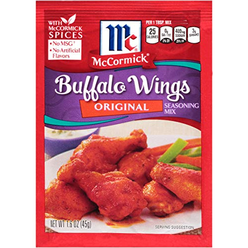 McCormick Original Buffalo Wing Seasoning Mix, 1.6 oz , Pack of 12