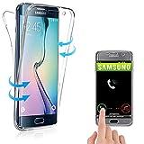 Coque 360° Compatible avec Samsung Galaxy S6 Edge Plus, Housse en Silicone TPU...