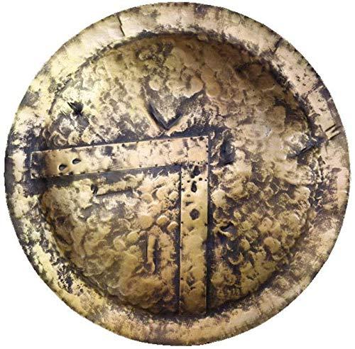 aipipl Decoracin de Estatua de Escudo de Guerrero Espartano, Modelo de Arma de Guerrero Romano Medieval, artesana Antigua, decoracin de Pared para el hogar, caf, Colgante H23.6in