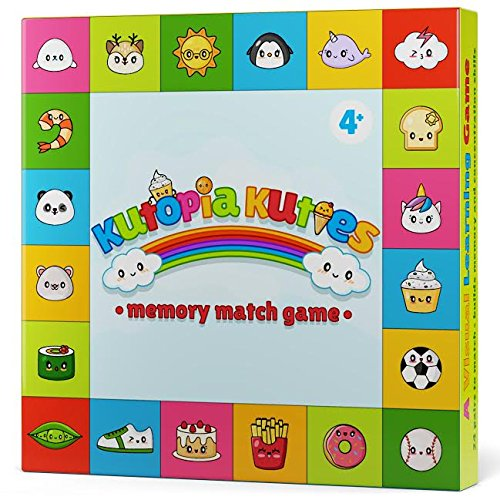 Memory Match Game for Kids - Sharpens Focus, Recognition & Visual Learning - with Super Cute Kawaii Characters