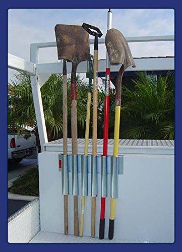 Heavy Duty Truck Bed & Tool Box Mount - Garden Tool Holding Rack for Rake, Shovel, Etc. - Landscaper, Gardener & Contractor - Commercial Grade Truck & Trailer Mounted Steel Tool Rack (Bed & Box Mount)