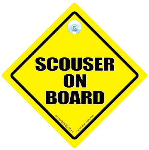 Scouser à bord, On Board Scouser Scouser, Scouser voiture Scouser Sign Panneau mural en vinyle Motif Liverpool Liverpudlian Plaque Bébéà bord, en anglais, drôle de voiture