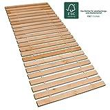 Betten-ABC Premium Rollrost, Stabiles Erlenholz, mit 23 Leisten und Befestigungsschrauben Größe 90x200