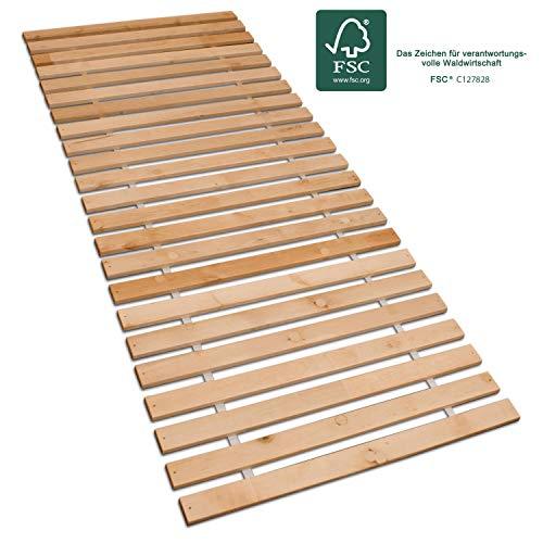 Betten-ABC Premium Rollrost, Stabiles Erlenholz, mit 23 Leisten und Befestigungsschrauben Größe 140x200