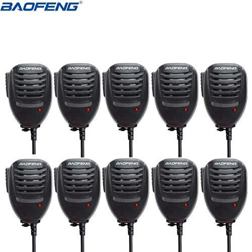 Baofeng 2Pin Portatile Telecomando Radio Speaker Mic Radio bidirezionale UV-5R uv-5re bf-f8hp uv-5r5bf-888GT-3Series, 10