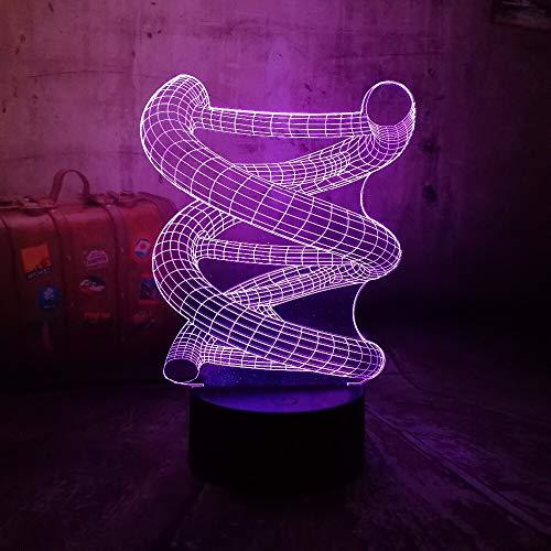 Hot Chtistmas Creative DNA USB Haus Neuheit 3D LED Nachtlicht USB Tischlampe Kinder Geburtstagsgeschenk Nachtzimmer Dekoration