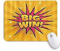 マウスパッド ビッグウィンサプライズコミック ゲーミング オフィス おしゃれ がい りめゴム ゲーミングなど ノートブックコンピュータマウスマット