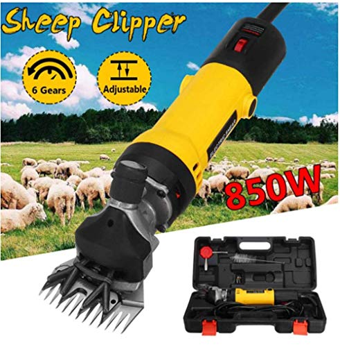 HIGHKAS Elektrisches Schaf-Tierhaarschneider-Scher-Kit 850W EU-Steckerschere Wolle geschnittene Ziege Haustier-Scherzubehör Farm Cut-Maschine