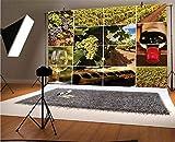 Fondo de vinilo para fotografía de Vineyard de 20 x 15 cm, paisajes de viñedo, color morado, botella francesa, fondo rústico para parejas, para graduación, baile, decoración de fotomatón
