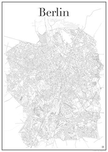 Berlijn Poster - Stadsplan affiche stadsnetwerk (60 cm x 84 cm) kunstdruk