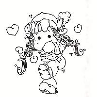 DIYのスクラップブッキング/フォトアルバムのための女の子の透明な明確なシリコーンスタンプ/シール装飾的な明確なスタンプw3v