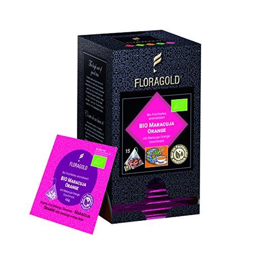 FLORAGOLD Pyramidenbeutel Bio FT Maracuja Orange, 1er Pack (1 x 67.5 g)