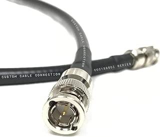Belden 4794R 12G UHD-SDI RG7 BNC 电缆(75 Ohm)黑色适用于 4K / UHDTV (12G-SDI) 定制电缆连接,通过定制电缆连接 黑色 1 ft CCC12GSDI-1C