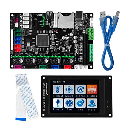 3D Printer Parts MKS Robin 2 V1.0 Integrated Circuit mainboard Controller Motherboard with Robin TFT35 Display closed source software with FFC Line & USB Cabl