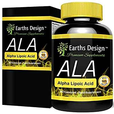 Alpha Lipoic Acid 250mg - ALA - 90 Capsules (3 Month Supply) by Earths Design