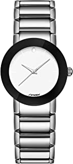 SHENGKE SINOBI Minimalist Women Watches Stainless Stee Analog Simple Dial Lady Wristwatch Fashion Casual Dress Watch for Women relojes de
