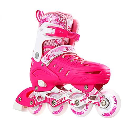 WFSH Klingen Rollschuhe Inline-Skates Frauen und Männer Hochleistung im Freien Inline-Skate Atmungsaktive Rollschuhe für Erwachsene und Anfänger Color : Pink, Size : Large(39-42)