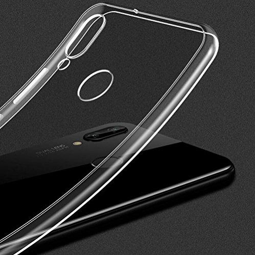 Beetop Kompatibel Mit Huawei Honor Play Hülle, Beetop Schutzhülle Handyhülle Transparent Weiche Silikon TPU Rückschale Case Cover für Huawei Honor Play - Transparent - 2