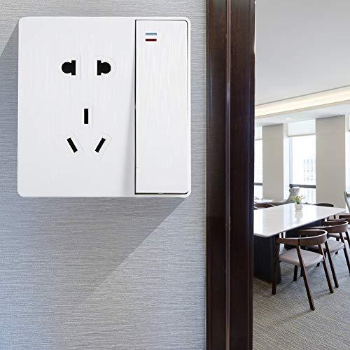 FOLOSAFENAR Tomacorriente de Pared Interruptor de tomacorriente de Pared liviano fácil de Instalar, para el hogar, para Uso doméstico