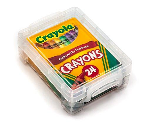 Crayola Crayons 24 Count with Clear Super Stacker Plastic Crayon Box (Bundle)