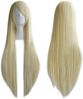 """Remeehi 80Cm 30"""" Long Straight Synthetic Wigs Lolita Cosplay Wigs For Women 4# Golden"""