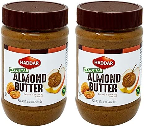 Haddar 100 Pure Almond Butter 18oz 2 Pack Only One Ingredient product image