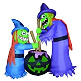 GOOSH Halloween Inflatables Blow up Funny Witches Brewing Cauldron -6Ft Tall