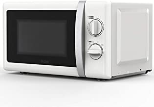 N / A Horno de microondas Blanco, pequeño Horno de microondas Giratorio mecánico Multifuncional para el hogar, Asistente de Cocina, Control de Perilla